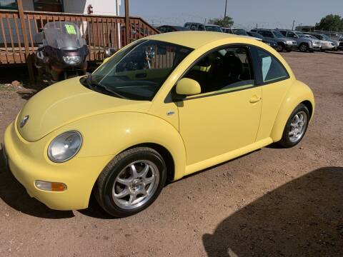2000 Volkswagen New Beetle for sale at PYRAMID MOTORS - Fountain Lot in Fountain CO