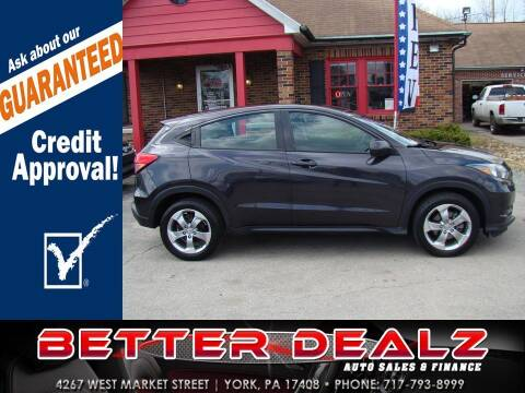 2017 Honda HR-V for sale at Better Dealz Auto Sales & Finance in York PA