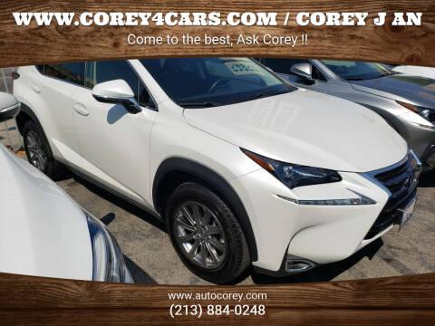 2017 Lexus NX 200t for sale at WWW.COREY4CARS.COM / COREY J AN in Los Angeles CA