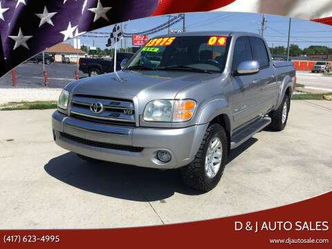 2004 Toyota Tundra for sale at D & J AUTO SALES in Joplin MO