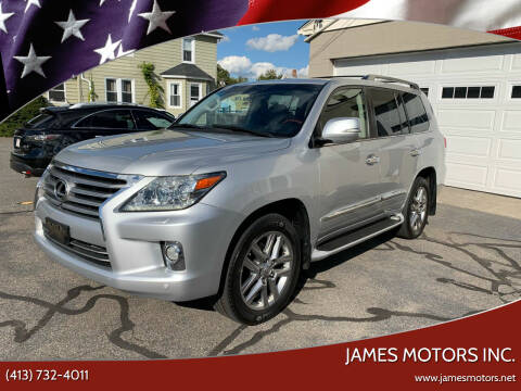 2013 Lexus LX 570 for sale at James Motors Inc. in East Longmeadow MA