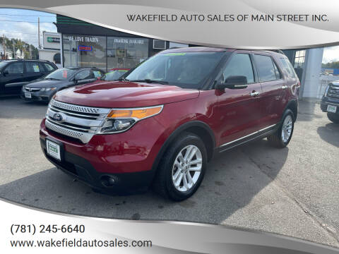 2015 Ford Explorer for sale at Wakefield Auto Sales of Main Street Inc. in Wakefield MA
