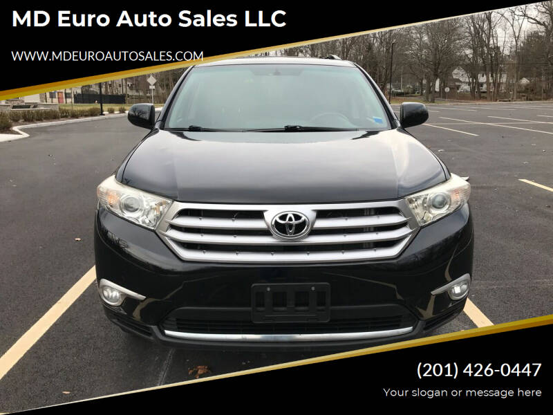 2013 Toyota Highlander for sale at MD Euro Auto Sales LLC in Hasbrouck Heights NJ
