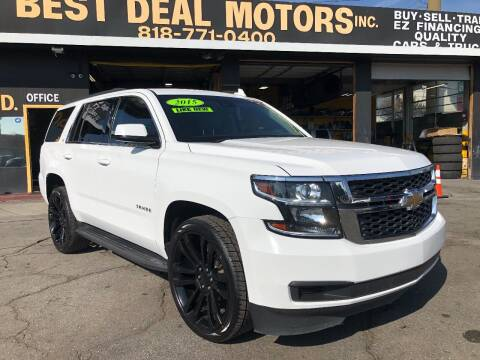 2015 Chevrolet Tahoe for sale at BEST DEAL MOTORS  INC. CARS AND TRUCKS FOR SALE in Sun Valley CA