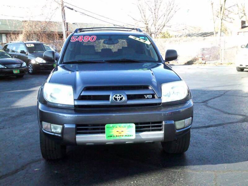 2004 Toyota 4Runner for sale at JIMS AUTO MART INC in Milwaukee WI