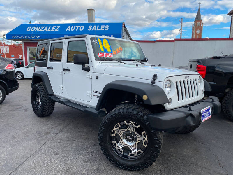 2014 Jeep Wrangler Unlimited for sale at Gonzalez Auto Sales in Joliet IL