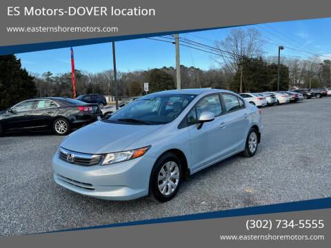 2012 Honda Civic for sale at ES Motors-DAGSBORO location - Dover in Dover DE