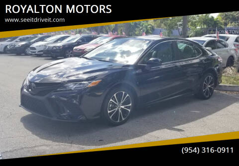 2020 Toyota Camry for sale at ROYALTON MOTORS in Plantation FL