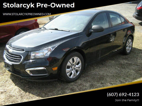 2015 Chevrolet Cruze for sale at Mike and Michelle Stolarcyk Cars and Trucks in Whitney Point NY