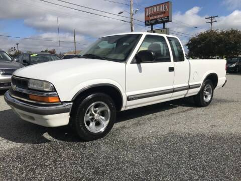 2001 Chevrolet S-10 for sale at Autohaus of Greensboro in Greensboro NC