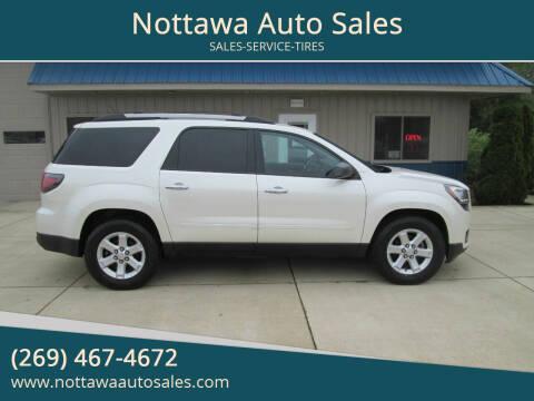 2015 GMC Acadia for sale at Nottawa Auto Sales in Nottawa MI