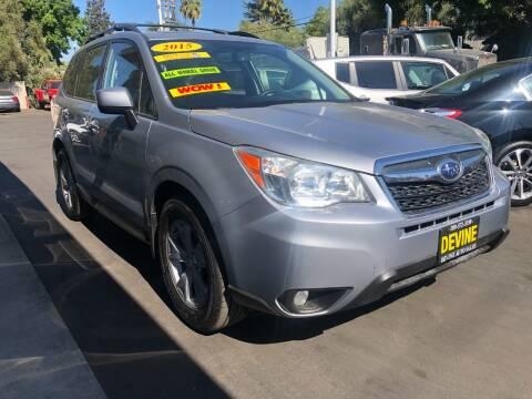 2015 Subaru Forester for sale at Devine Auto Sales in Modesto CA