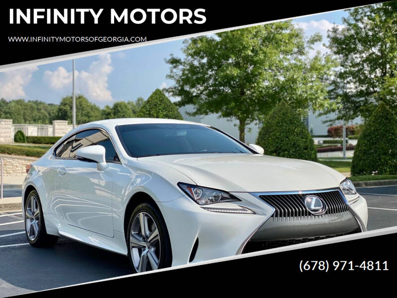 2015 Lexus RC 350 for sale at INFINITY MOTORS in Gainesville GA
