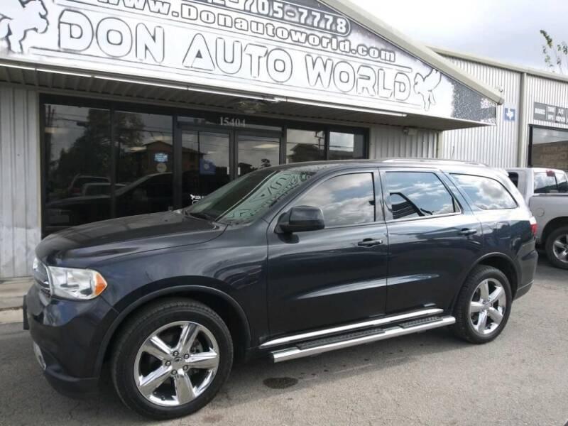2013 Dodge Durango for sale at Don Auto World in Houston TX
