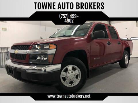 2005 Chevrolet Colorado for sale at TOWNE AUTO BROKERS in Virginia Beach VA