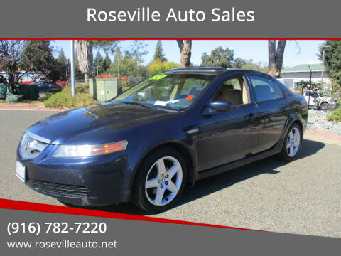 2004 Acura TL for sale at Roseville Auto Sales in Roseville CA