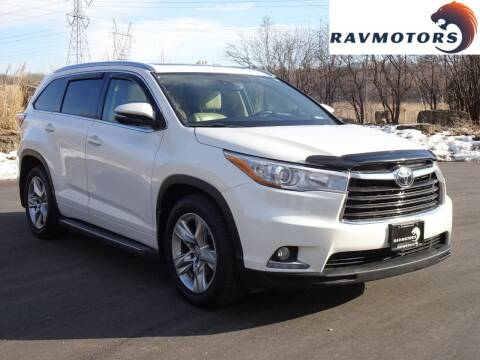 2015 Toyota Highlander for sale at RAVMOTORS in Burnsville MN