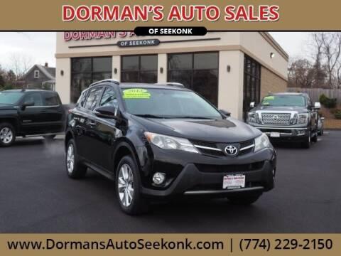 2013 Toyota RAV4 for sale at DORMANS AUTO CENTER OF SEEKONK in Seekonk MA