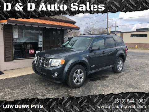 2008 Ford Escape for sale at D & D Auto Sales in Hamilton OH
