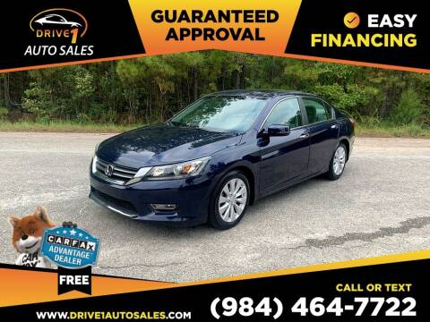 2013 Honda Accord for sale at Drive 1 Auto Sales in Wake Forest NC