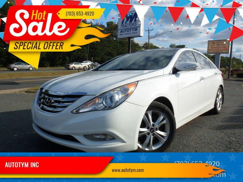2012 Hyundai Sonata for sale at AUTOTYM INC in Fredericksburg VA