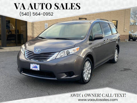 2017 Toyota Sienna for sale at Va Auto Sales in Harrisonburg VA