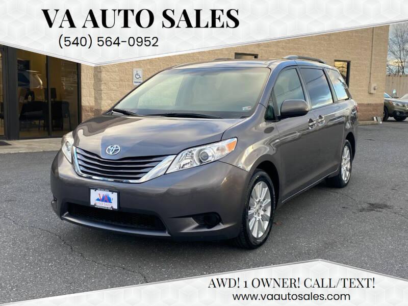 2017 Toyota Sienna for sale at Va Auto Sales in Harrisonburg VA