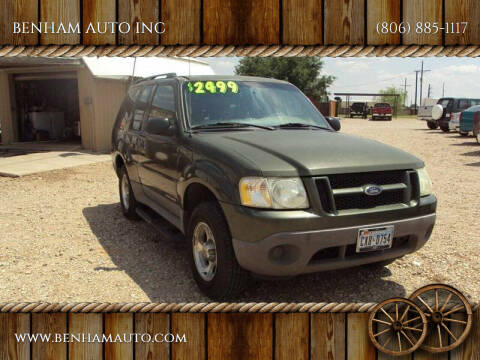 2002 Ford Explorer Sport for sale at BENHAM AUTO INC in Lubbock TX