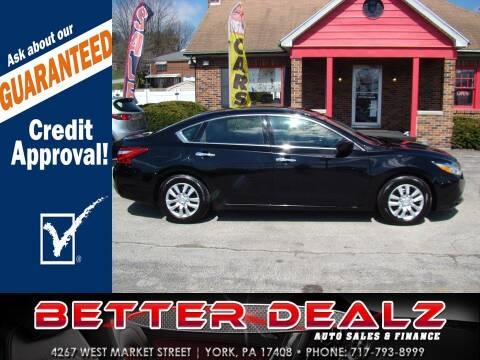 2016 Nissan Altima for sale at Better Dealz Auto Sales & Finance in York PA