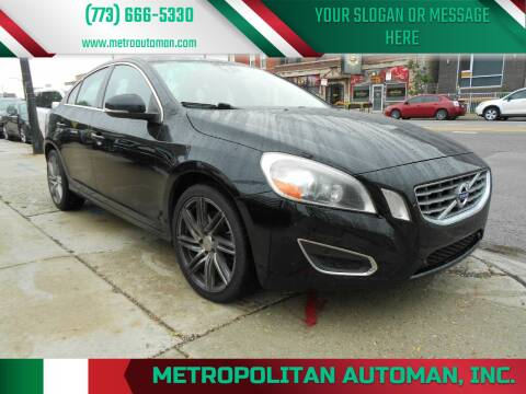 2013 Volvo S60 for sale at Metropolitan Automan, Inc. in Chicago IL
