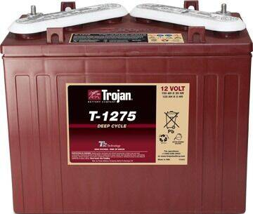 Trojan Battery 12 Volt T-1275 for sale at Area 31 Golf Carts - Trojan Batteries in Acme PA