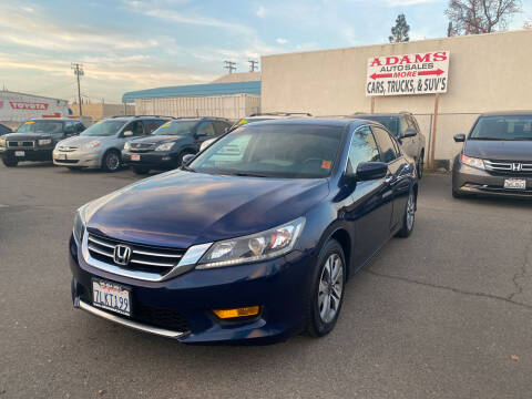 2015 Honda Accord for sale at Adams Auto Sales in Sacramento CA