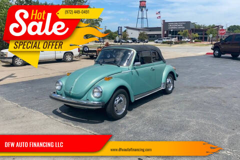 1979 Volkswagen Beetle Convertible for sale at DFW AUTO FINANCING LLC in Dallas TX