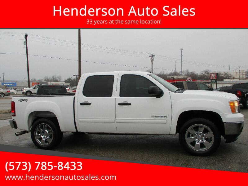 2011 GMC Sierra 1500 for sale at Henderson Auto Sales in Poplar Bluff MO