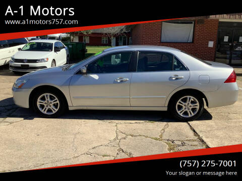2006 Honda Accord for sale at A-1 Motors in Virginia Beach VA