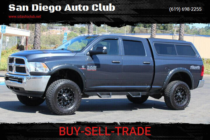2017 RAM Ram Pickup 2500 for sale at San Diego Auto Club in Spring Valley CA