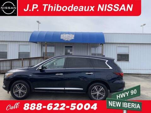 2018 Infiniti QX60 for sale at J P Thibodeaux Used Cars in New Iberia LA