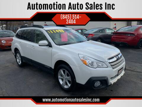 2013 Subaru Outback for sale at Automotion Auto Sales Inc in Kingston NY
