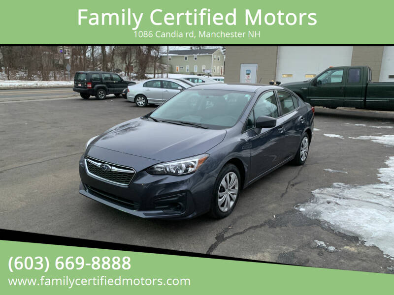 2017 Subaru Impreza for sale at Family Certified Motors in Manchester NH