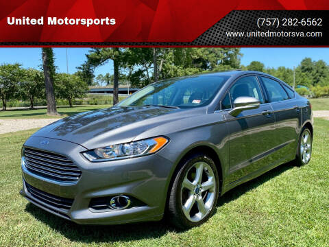2014 Ford Fusion for sale at United Motorsports in Virginia Beach VA