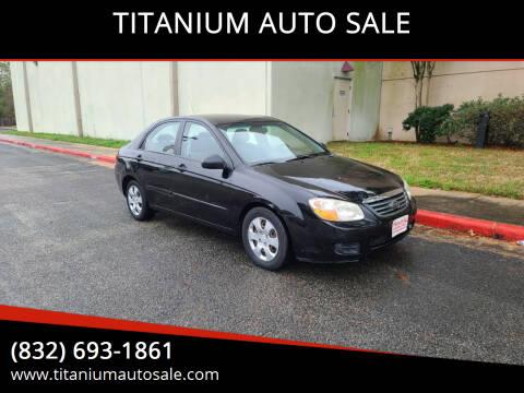 2008 Kia Spectra for sale at TITANIUM AUTO SALE in Houston TX