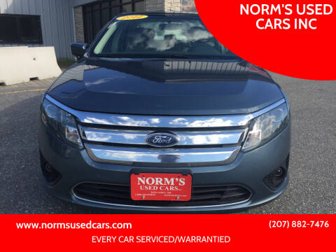 2012 Ford Fusion for sale at NORM'S USED CARS INC in Wiscasset ME