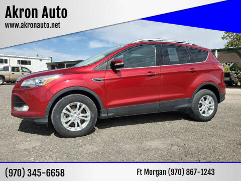 2014 Ford Escape for sale at Akron Auto - Fort Morgan in Fort Morgan CO