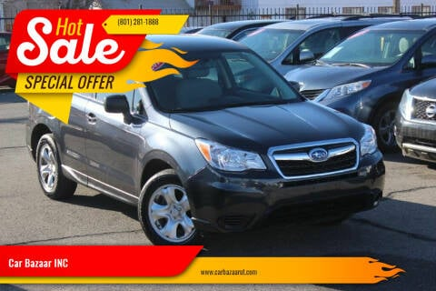 2014 Subaru Forester for sale at Car Bazaar INC in Salt Lake City UT
