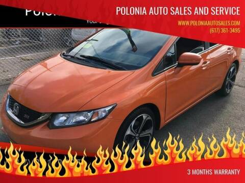 2015 Honda Civic for sale at Polonia Auto Sales and Service in Hyde Park MA