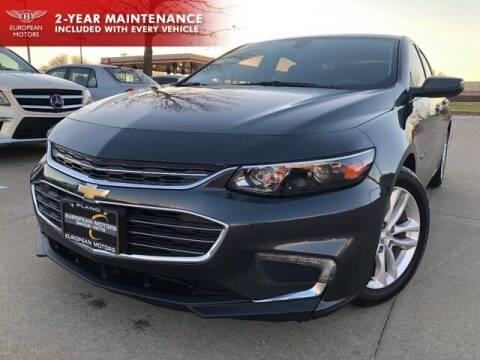 2017 Chevrolet Malibu for sale at European Motors Inc in Plano TX