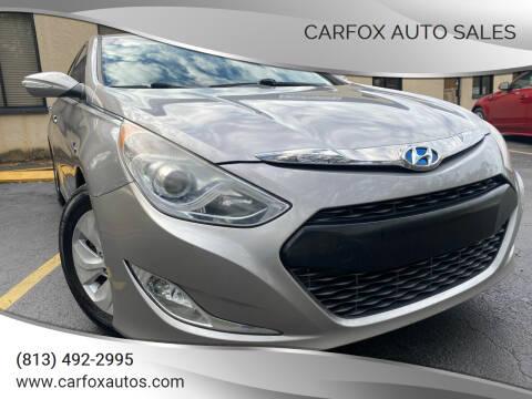2013 Hyundai Sonata Hybrid for sale at Carfox Auto Sales in Tampa FL