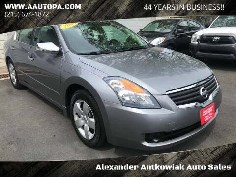 2008 Nissan Altima for sale at Alexander Antkowiak Auto Sales in Hatboro PA