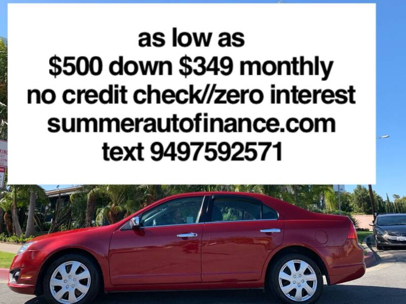 2010 Ford Fusion for sale at SUMMER AUTO FINANCE in Costa Mesa CA