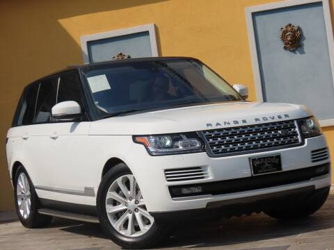 2016 Land Rover Range Rover for sale at Paradise Motor Sports LLC in Lexington KY